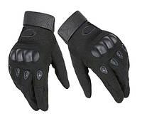 Полнопалые тактические перчатки реплика Окли черные