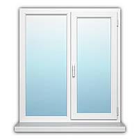 Двухстворчатое окно с поворотно-откидной створкой Rehau Geneo 1200х1300 с энергосбережением