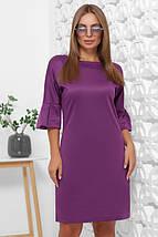 Осеннее платье футляр на каждый день длина миди цвет черный, фото 3