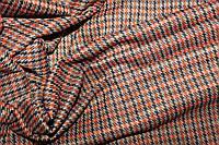 Ткань трикотаж осенний,  стрейч, плотный, без начеса, терракот-оранж пог. м. № 328, фото 1