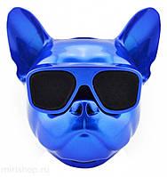 Собака колонка беспроводная Bluetooth S3 dog «CoolDog Французский Бульдог» / Колонка aerobul, цвет синий