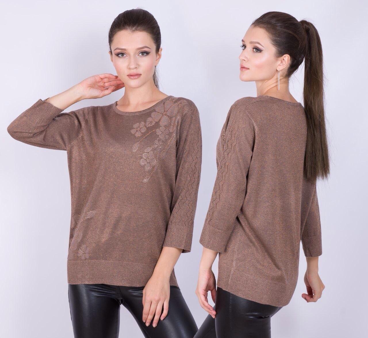Комфортный свободный свитер 52-56 (в расцветках)