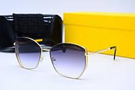 Солнцезащитные очки Fen 20283 черные с золотом, фото 1