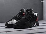 Мужские кроссовки Adidas EQT Bask ADV (черно/красные), фото 5