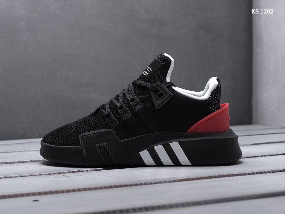 Мужские кроссовки Adidas EQT Bask ADV (черно/красные)