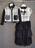 Плаття дитяче чорне в стилі Шанель