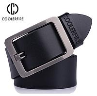 Кожаный мужской ремень Coolerfire HQ022 - Black, фото 1