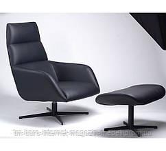 Кресло лаунж Berkeley с подставкой (Беркли) черный, Concepto