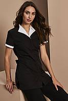 Форма уборщицы, одежда горничной черная с белым Atteks - 00817
