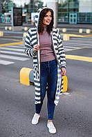 Женский модный кардиган в  полоску большого размера 48 - 58