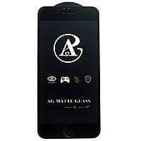 Матовое защитное стекло AG Matte Full Glue для Apple iPhone 6 Черный