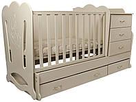 """Детская кроватка-трансформер с комодом """"Соня"""" 3 в 1 Angel baby"""