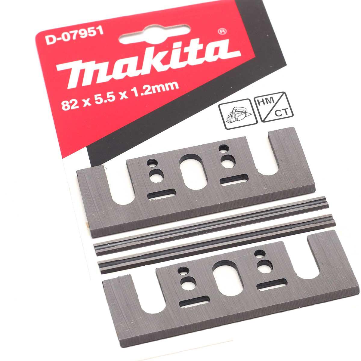Набор строгальных мини ножей Makita  HM 82 мм (4 шт.) (D-07951)