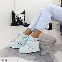 Женские сникерсы голубые 6032