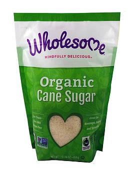 Тростниковый сахар Органический Wholesome Sweeteners 454 г