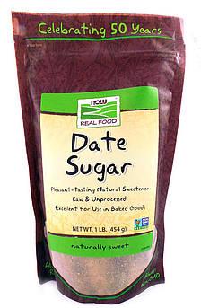 Финиковый сахар органический Now Real Food 454 г