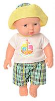 """Пупс игрушечный в зеленой одежде и панамке 212-X-216-X LIMO TOY """"Малюки""""   детская куколка   пупсик"""