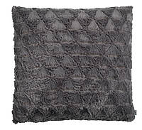 Декоративная подушка серая, иск.мех