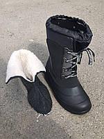 Сапоги мужские зимние черные на шнуровке оптом, фото 1