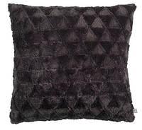 Декоративная подушка черная, иск.мех