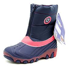 Сноубутсы для девочки Lupilu Италия Темно-синие с розовым Размеры: 24, 25, 26