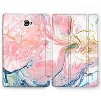 Чехол книжка, обложка для Samsung Galaxy Tab (Мрамор, акварель) планшеты A9.7 10.1 10.5 E8.0 S2 S3 S4 S5e S6