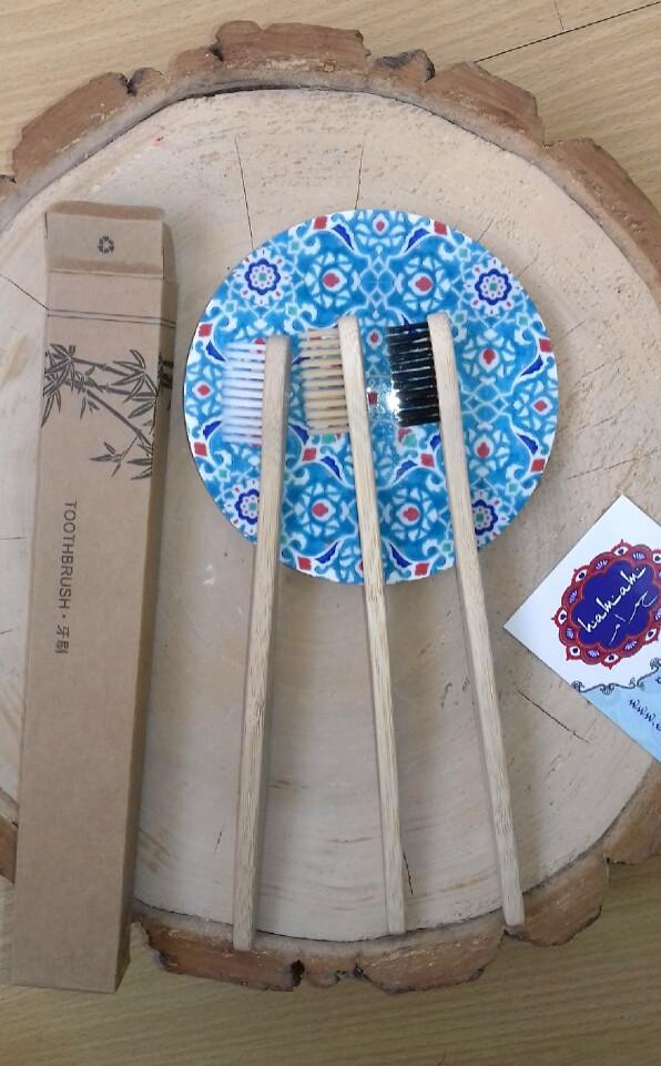 Бамбуковые зубные щетки + нейлон органик