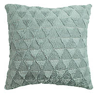 Декоративная подушка зеленая, иск.мех