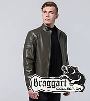 Braggart Youth | Куртка экокожа 4129 хаки, фото 1