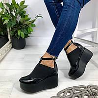 Черные женские туфли ELLA, из натуральной кожи