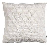 Декоративная подушка льняная, иск.мех