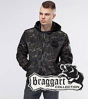 Braggart Youth | Куртка бомбер осенняя 30155 черный-хаки, фото 1