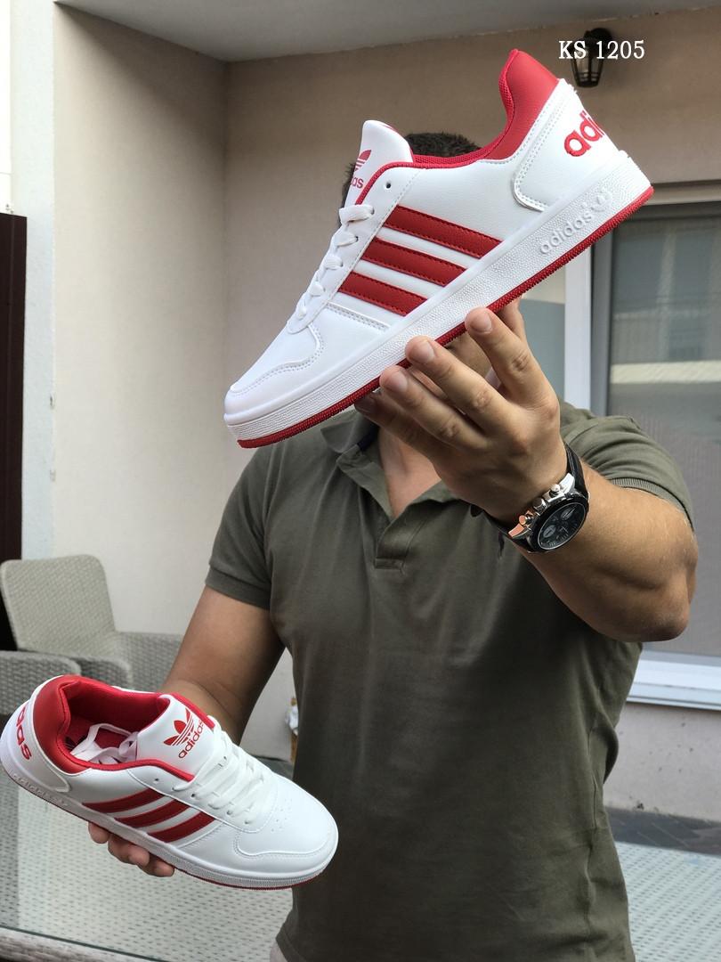 Мужские кроссовки Adidas La marque (бело-красные)