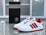 Мужские кроссовки Adidas La marque (бело-красные), фото 2