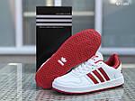 Мужские кроссовки Adidas La marque (бело-красные), фото 4