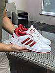 Мужские кроссовки Adidas La marque (бело-красные), фото 3