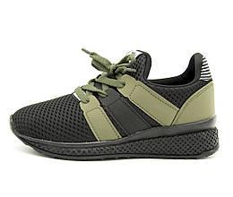 Кроссовки для мальчика Турция Черные-хаки Размеры: 32, 33, 34