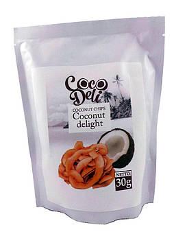 Натуральные кокосовые чипсы без сахара Coco Deli 30 г