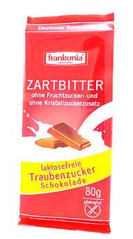 Черный шоколад без лактозы с декстрозой Frankonia 80 г