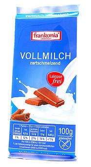 Молочный шоколад без лактозы и глютена Frankonia 100 г