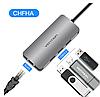 Адаптер Vention Thunderbolt 3 док-станция USB-C к HDMI USB3.0 RJ45 для MacBook samsung huawei