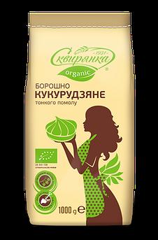 Борошно кукурудзяне тонкого помелу органік Сквірянка 1000 г