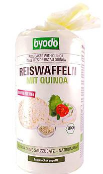 Рисовые хлебцы с киноа без соли Reiswaffeln mit Quinoa Byodo 100 г