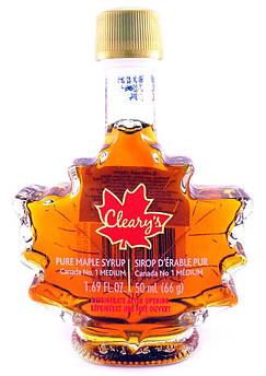 Кленовый Сироп Канадский бутылка Кленовый Лист Cleary's 100 мл