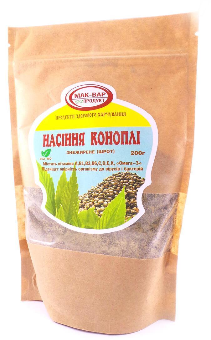 Шрот из семян конопли Мак-Вар 250 г