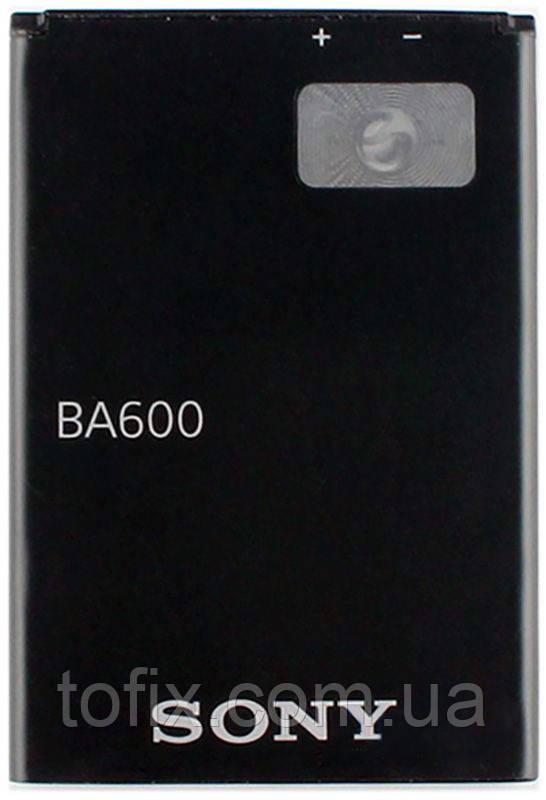 Батарея (акб, аккумулятор) BA600 для Sony Xperia U ST25i, 1320 mah, оригинал