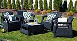 Corfu Quattro Set садовая мебель из искусственного ротанга, фото 2