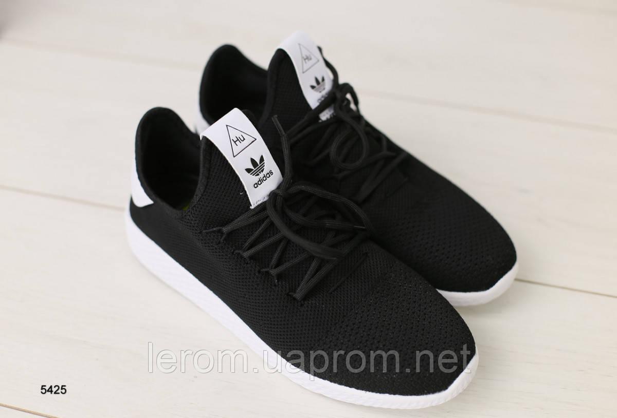 Мужские кроссовки черные в сеточку