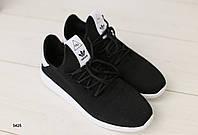 Мужские кроссовки черные в сеточку, фото 1