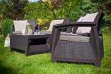 Corfu Quattro Set садовая мебель из искусственного ротанга, фото 4